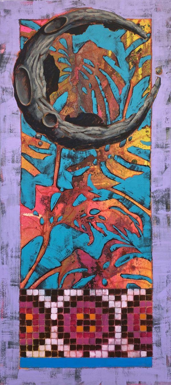 Peter birk, palme, måne, mosaik, galleri, kbh, kunst