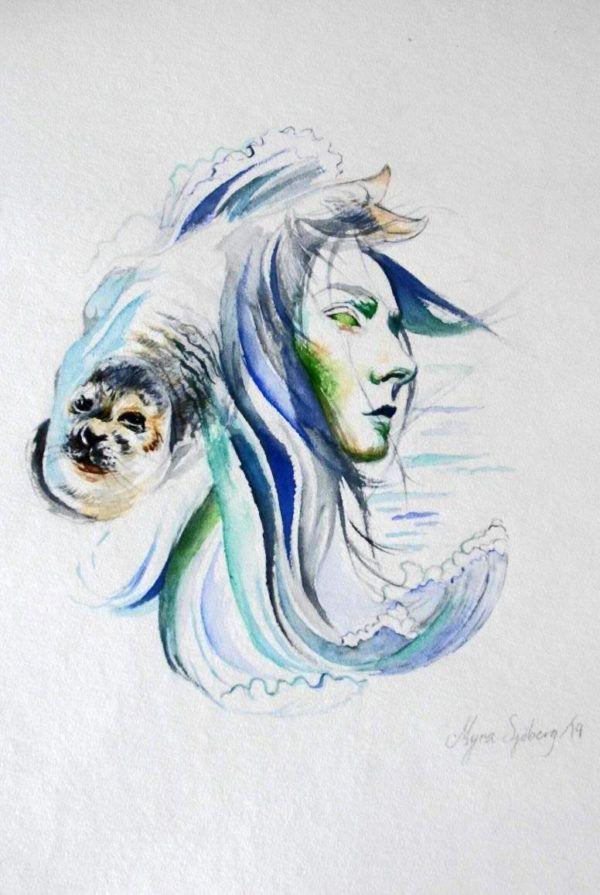 Myra Sjöberg, havgudinde, Galleri kbh kunst