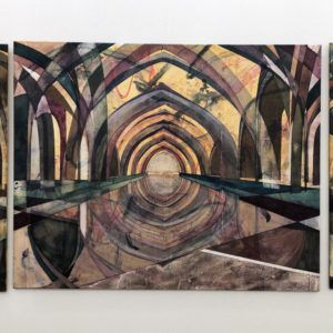 Reflections, Mette Rishøj, Triptikon, Triptych, Galleri kbh kunst