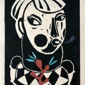 Christina Elvira Godsk, galleri kbh kunst, linocut