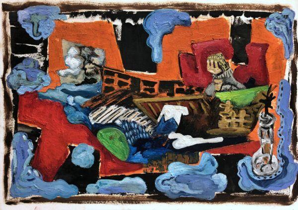 Thomas Plauborg, Galleri kbh kunst, Ankomst, maleri, olie