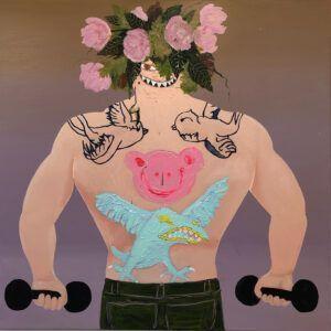 Iris Bendt-Hedal, Galleri kbh kunst, maleri, Birdman